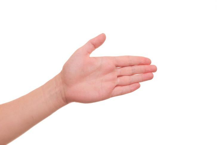 仲直りの握手