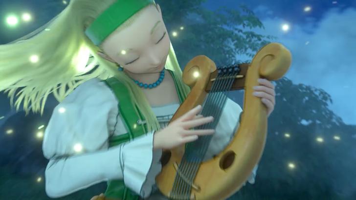 たて琴を奏でるセーニャ