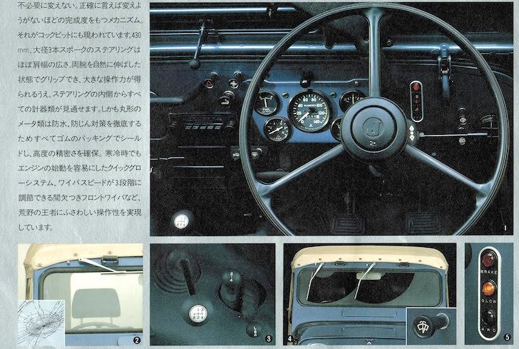 三菱・ジープJ53のカラーバリエーション