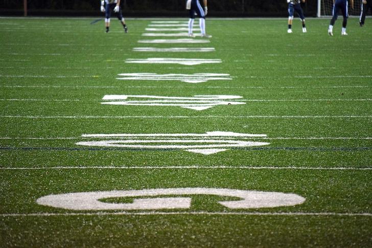 アメリカンフットボールのフィールド