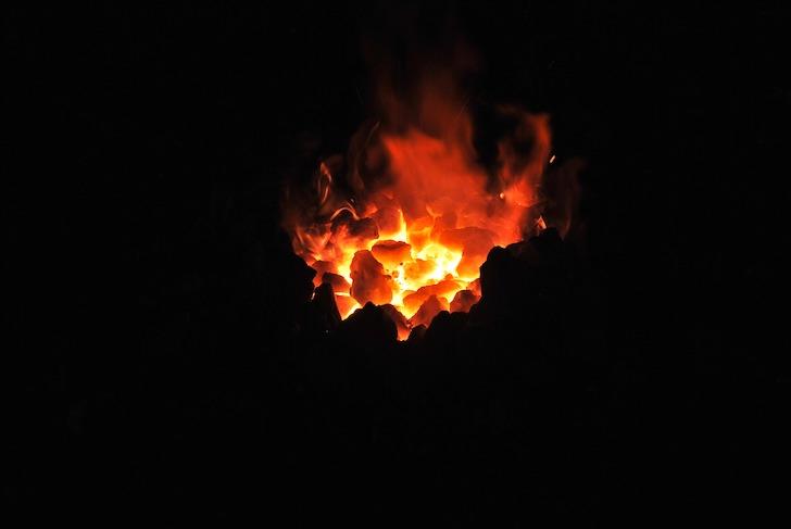 鍛冶に使う炎