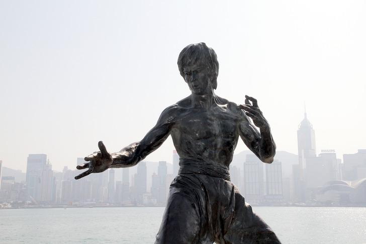 香港にあるブルース・リー像