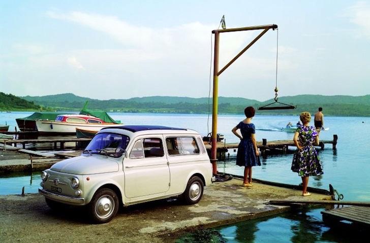 港に停車するフィアット・500 ジャルディニエラ -