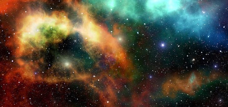銀河に輝く幾つかの星
