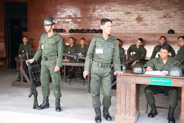 タイ軍人の詰め所