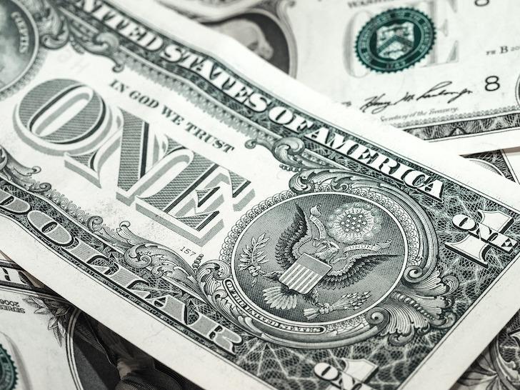 米国の1ドル紙幣