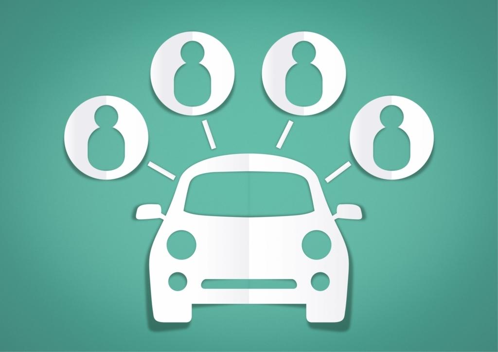 一台の自動車を複数の人が共同で使用するカーシェアリング