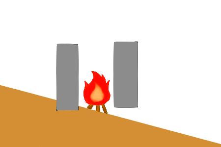 簡易焼却炉側面