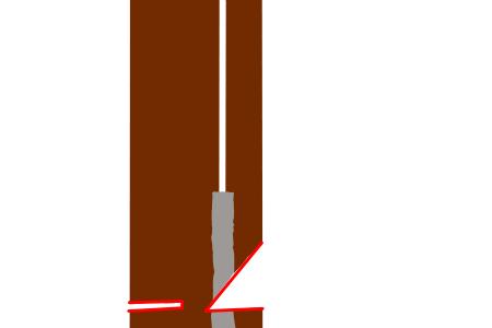 多幹木の切込み方