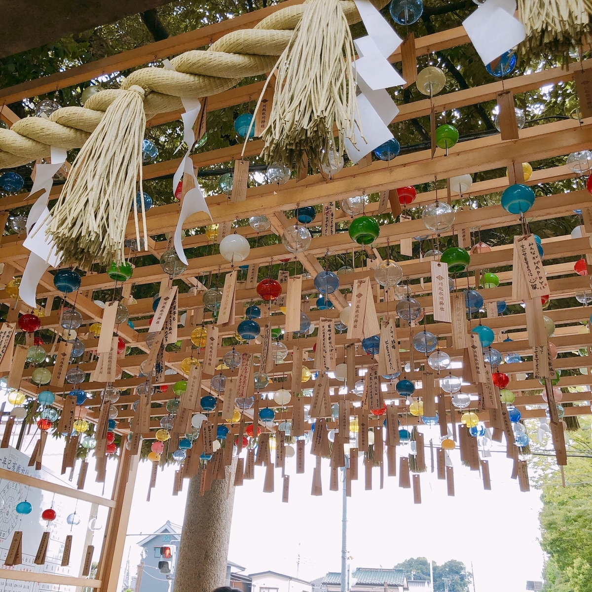 川越氷川神社の風鈴