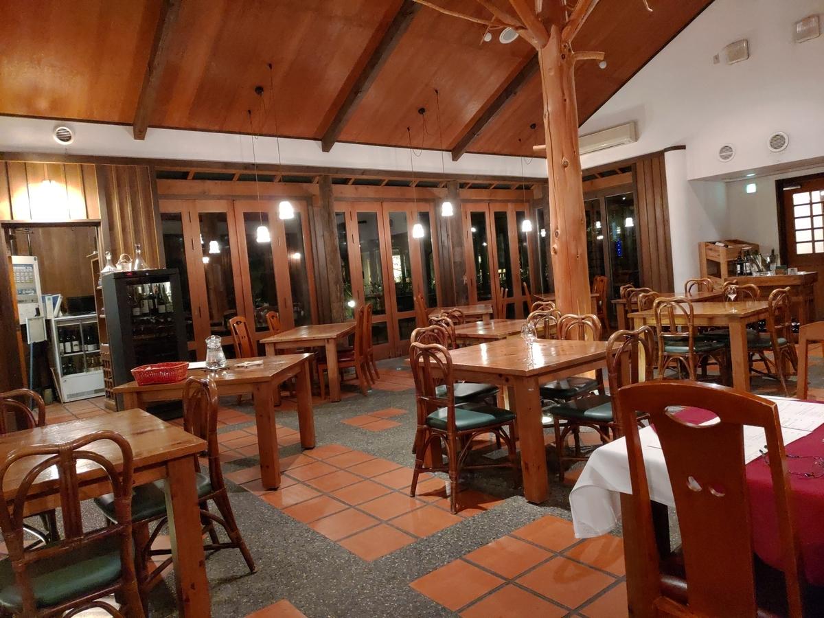 高級レストラン。遅い時間だったので客が少なかった。