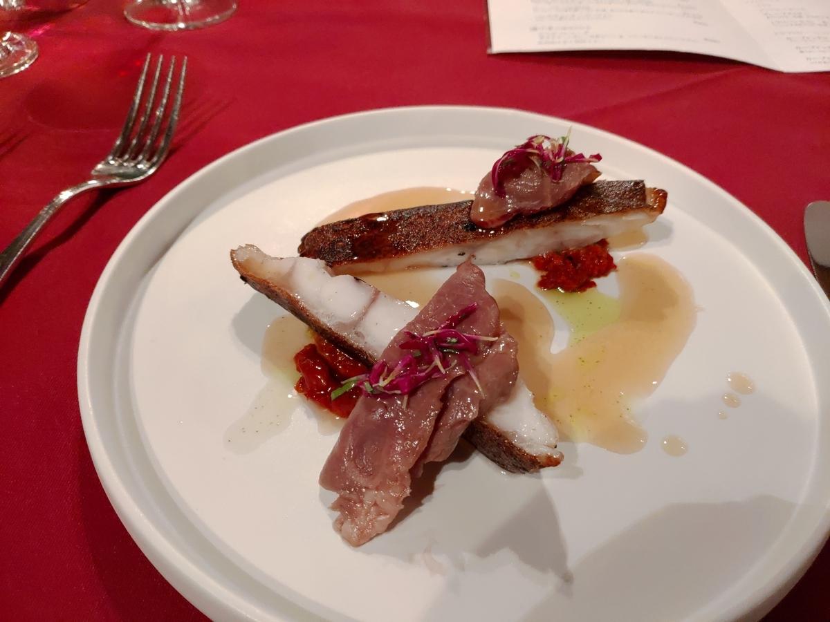 マハタのロースト。今まで食った魚料理の中でダントツで一番美味し!
