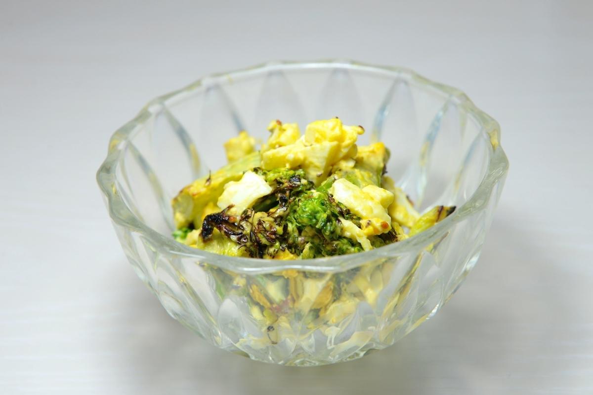 グリルブロッコリーとゆで卵サラダ