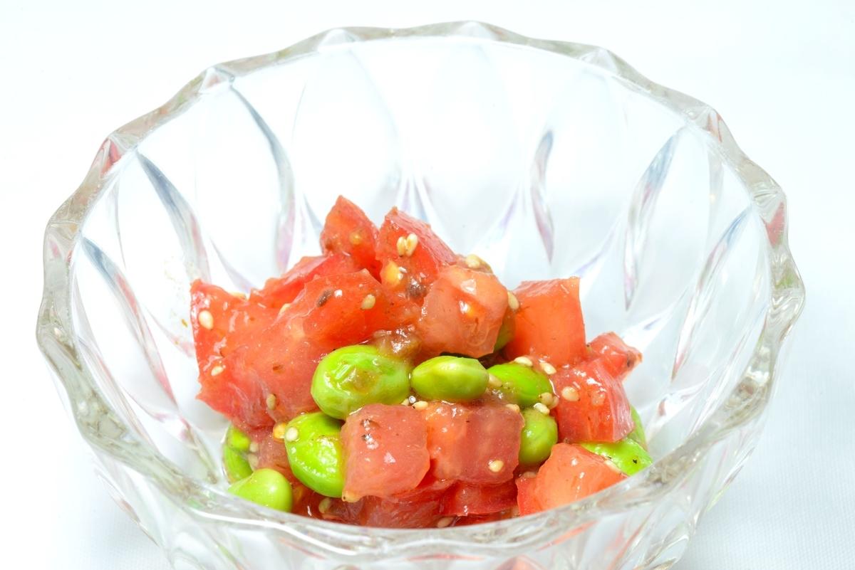 トマト昆布茶サラダ