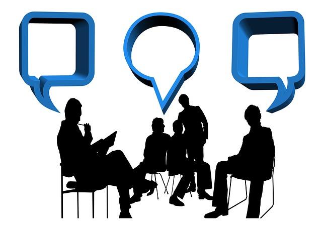 会議する個人事業主