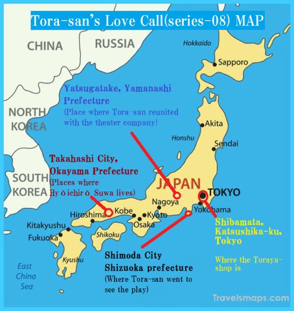 map of [movie]Tora-san's Love Call(series-08)