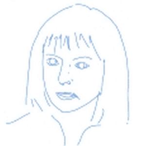 イラストは映画『ル・ディヴォース~パリに恋して~』の一場面で、ケイト・ハドソンの似顔絵です。