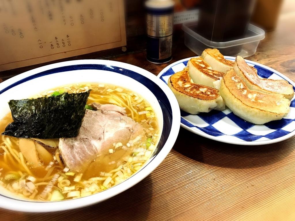 「一圓本店 (いちえん)」でいただいた「ラーメン+餃子」