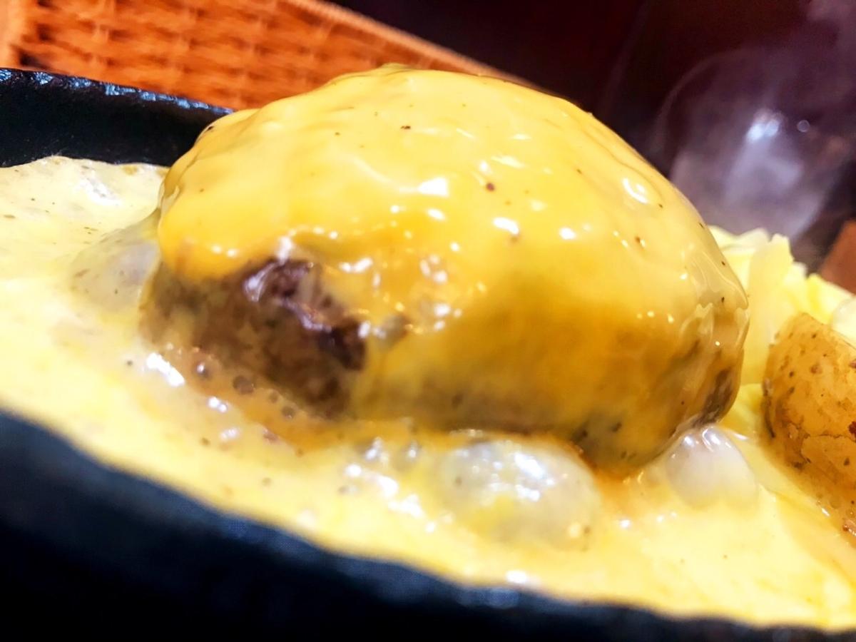 吉祥寺バーグのチーズたっぷりハンバーグ1