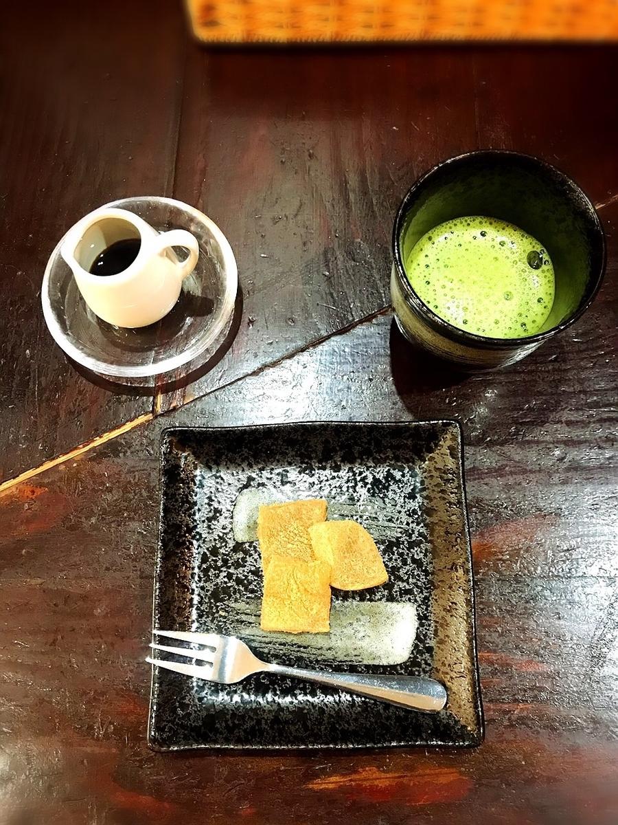 吉祥寺バーグの葛餅と抹茶