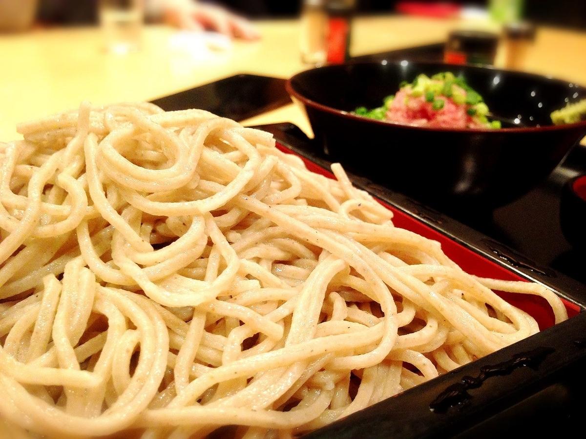 善左衛門コピス吉祥寺の蕎麦とネギトロ丼