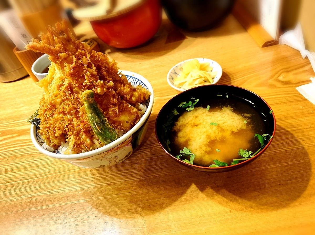 「日本橋金子屋 吉祥寺」はがっつりと丼を食べたい方や一人ごはんにおすすめの天丼屋