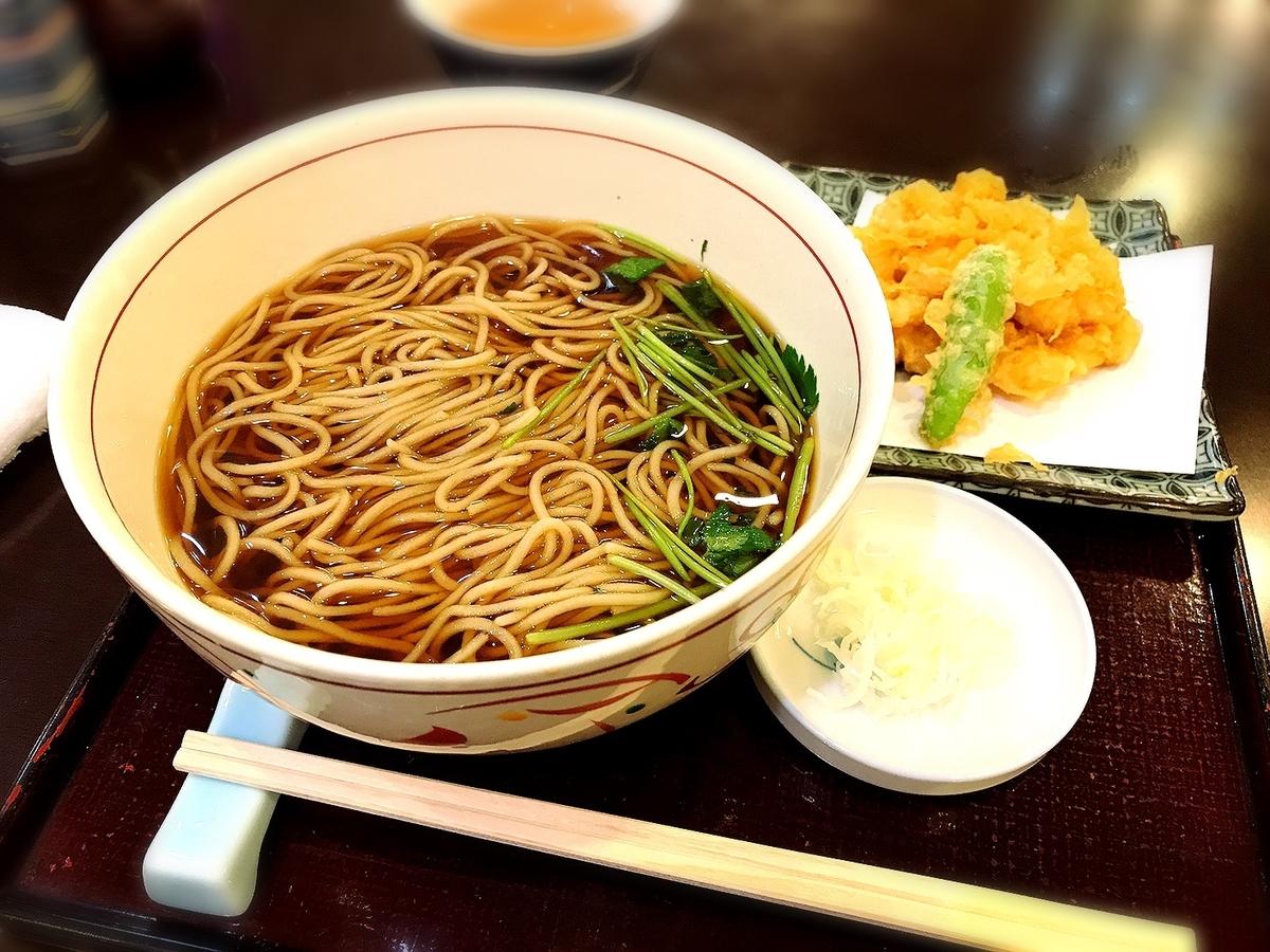 砂場の天ぷら蕎麦