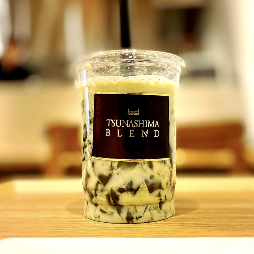 """「茶の癒庵(ゆあん)」でいただいた「飲む抹茶ミルク""""どろりん""""」""""500円(税込)"""