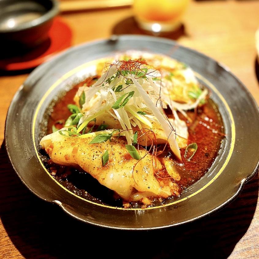 "「GYOZA SHACK ちゃわん」でいただいた「よだれ鶏餃子」""580円(税別)"