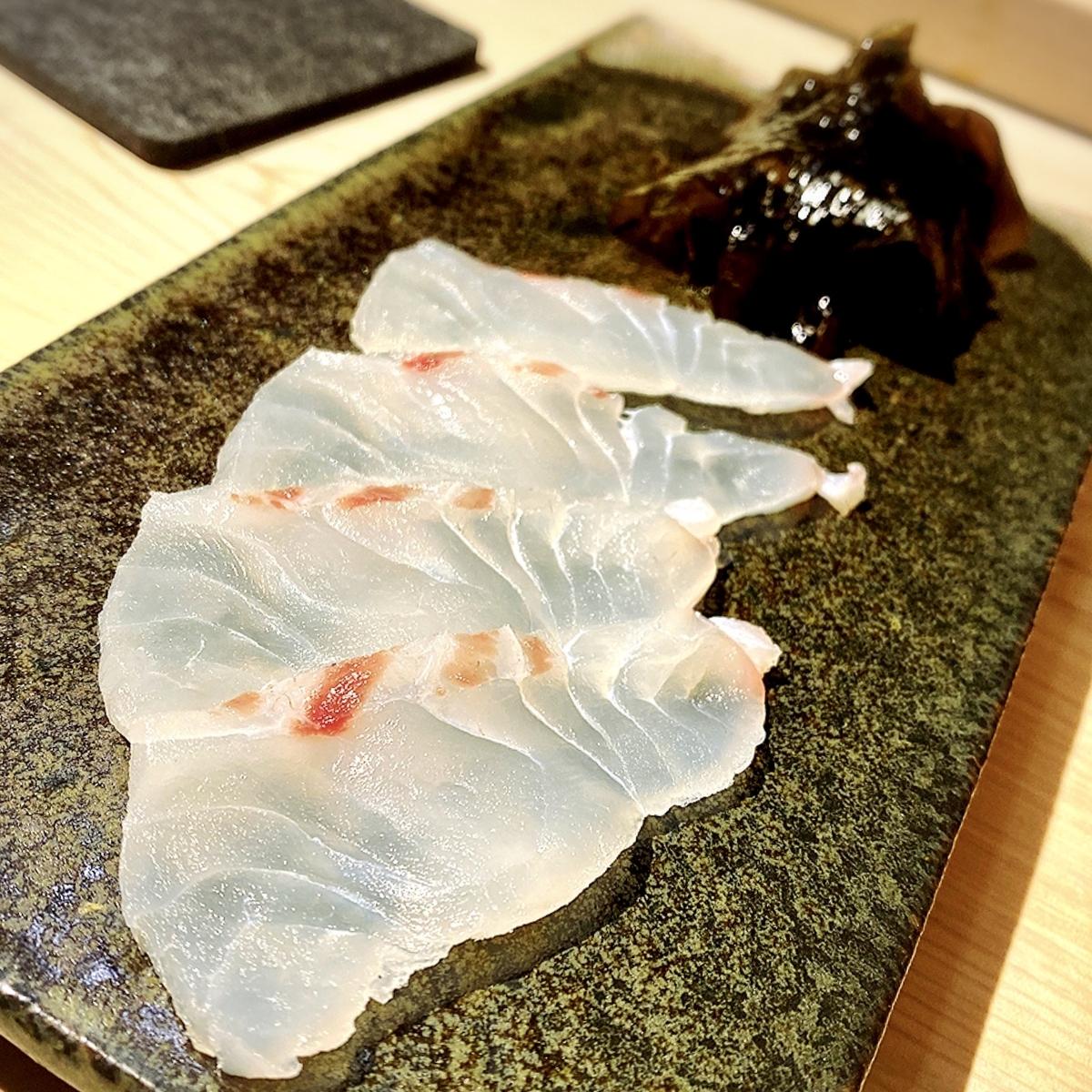 「日本料理 みや」でいただいた「鯛しゃぶ」