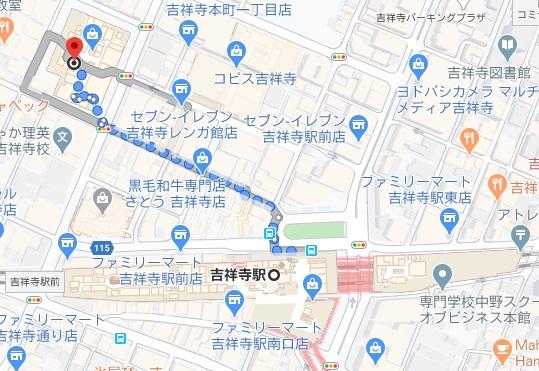 神田まつや吉祥寺への行き方