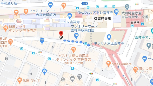 博多満月 吉祥寺への行き方