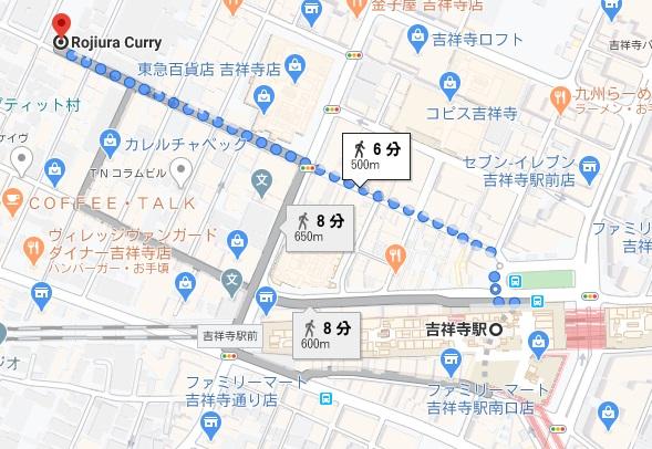 路地裏カレー侍への行き方