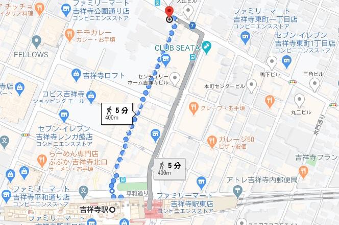 「カフェ茶色」への行き方と店舗情報