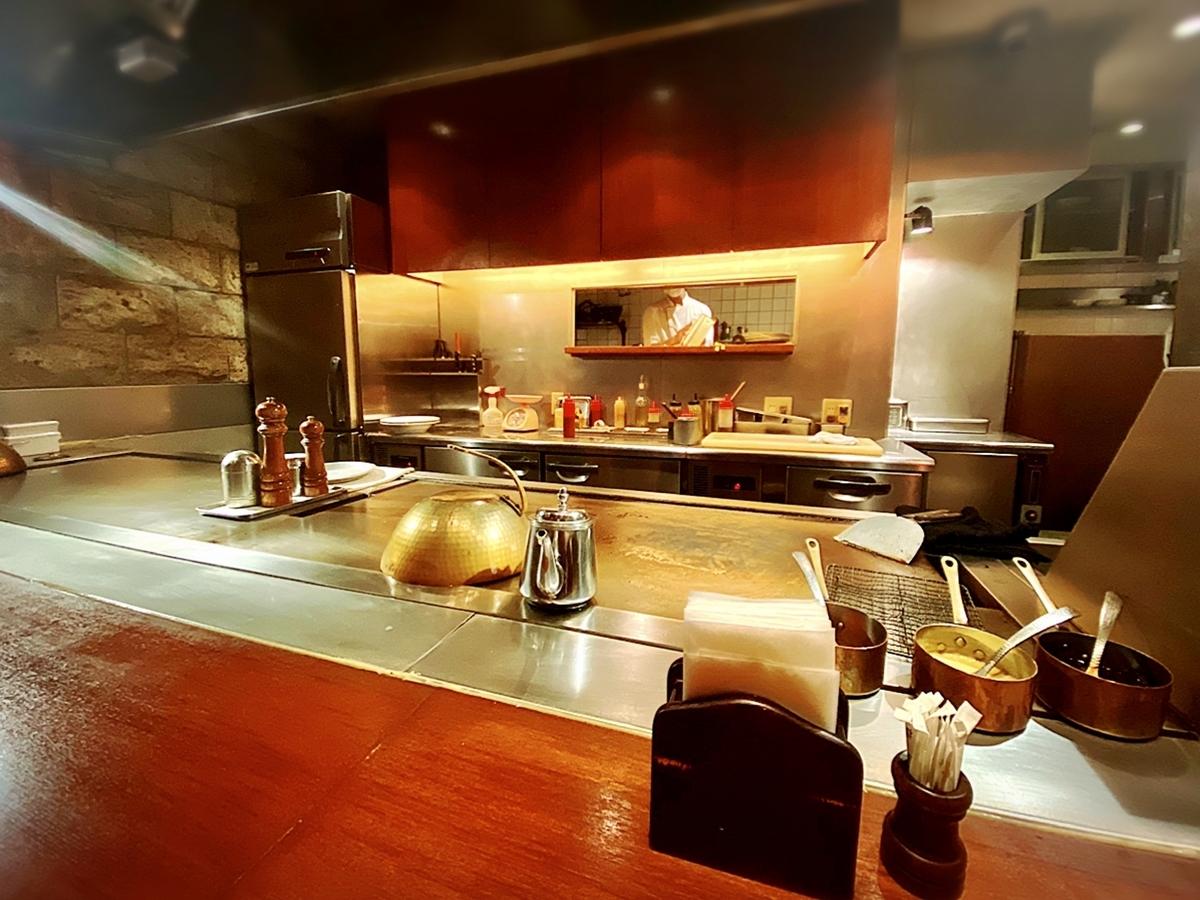 「鉄板焼 一鐡 グランデール」はデート飯や一人ランチなどにおすすめできる鉄板焼き屋でした