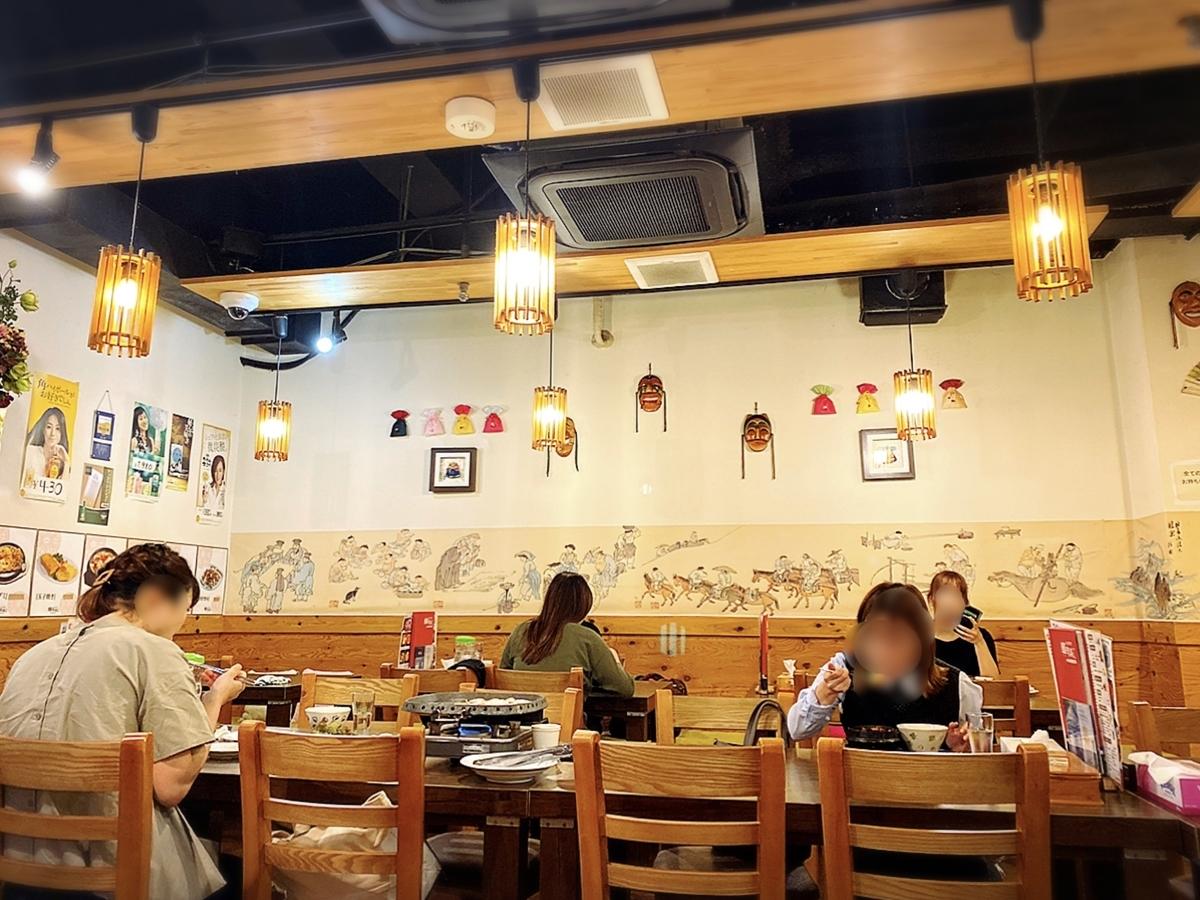 韓美楽(ハンミラク)の店内雰囲気
