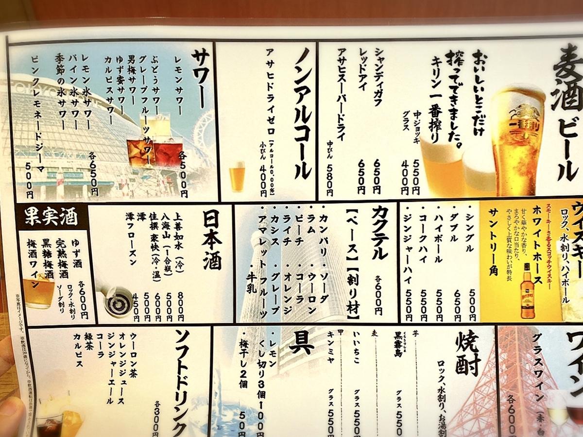 「御菜屋 紅青椒(パプリカ)」のメニューと値段2