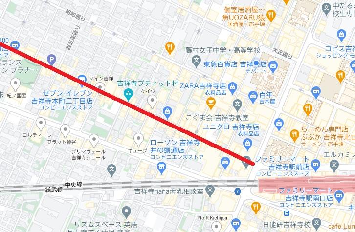 中道通り商店街はどこ?