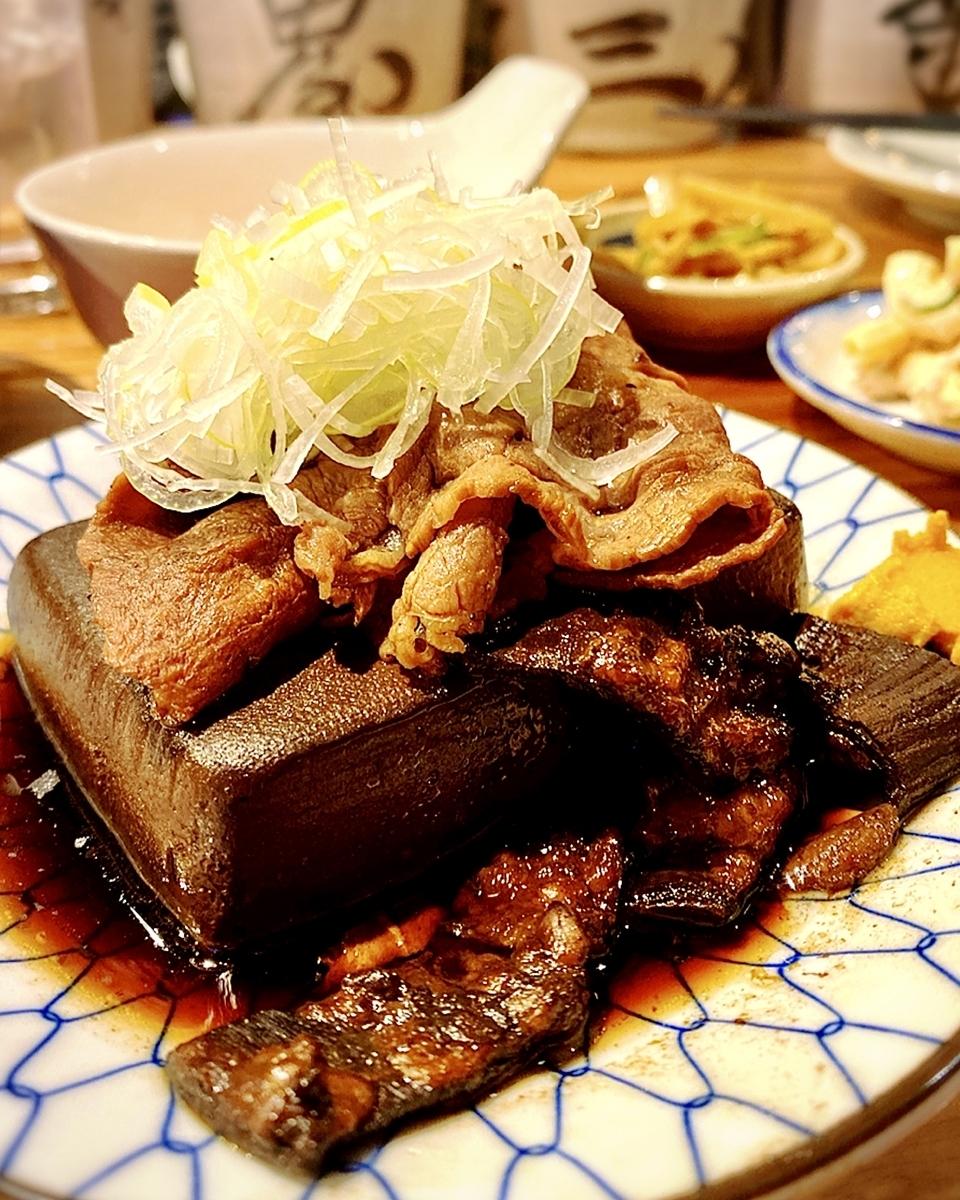 """「大衆酒場 長次郎」でいただいた「肉豆腐定食」""""800円1"""