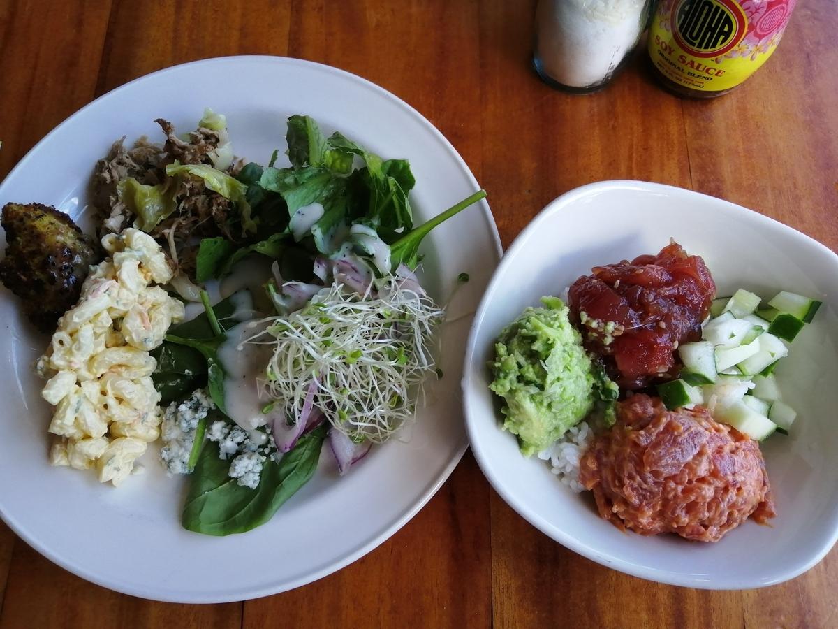 Duke's Waikiki ランチビュッフェ サラダとポキボウル