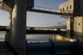 諏訪湖の釜口水門/岡谷市