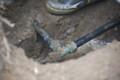 2011.9/水道管だ出た。