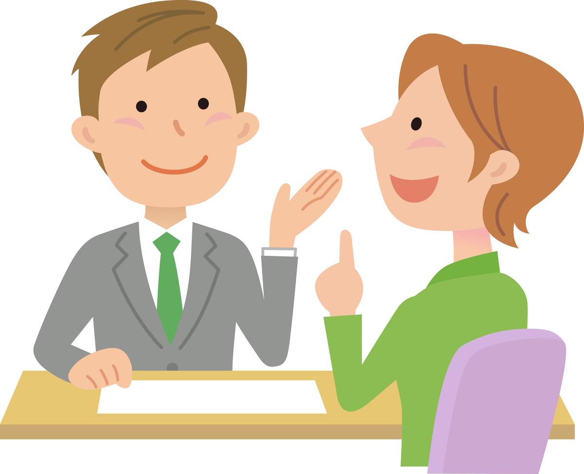 面談、カウンセリング、キャリアコンサルタント