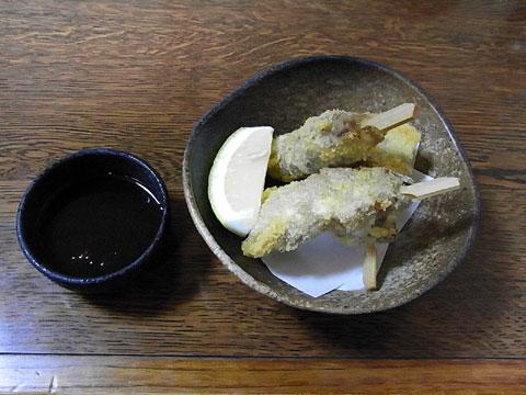 ダチョウ串カツ(大月)