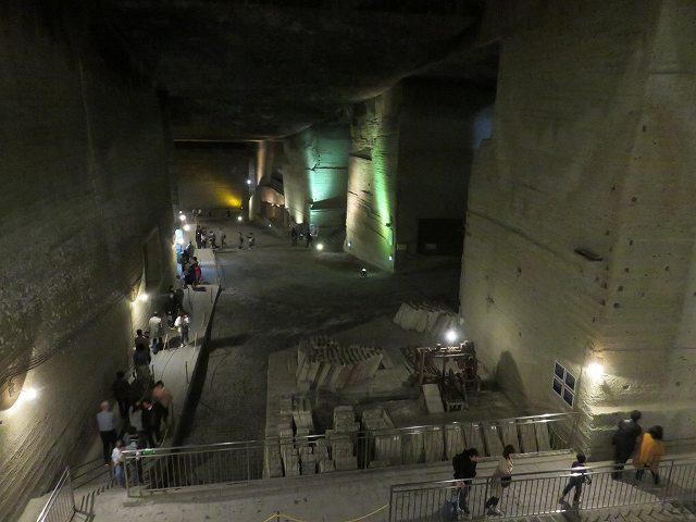 大谷資料館入り口の階段を降りたところからの眺め