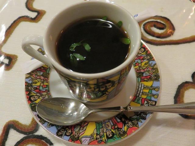 中目黒のエチオピア料理店「クイーン・シーバ」のコーヒー