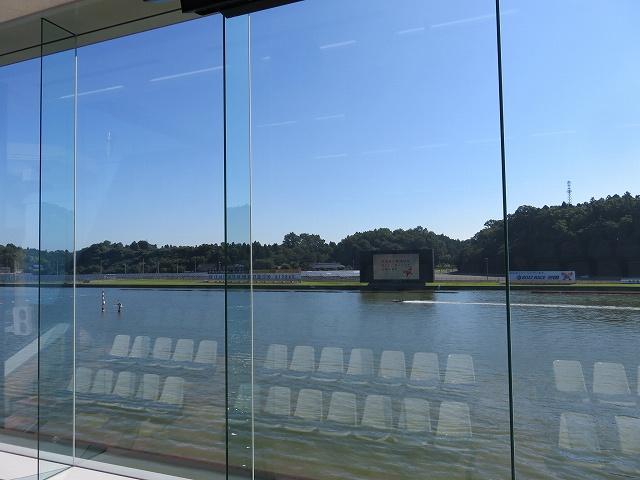 三国競艇場2号館の2階からの眺め