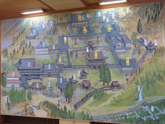 福井県永平寺の敷地内地図