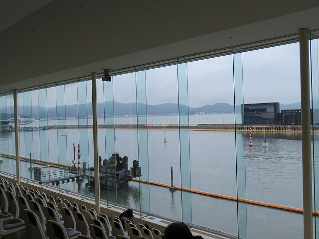 児島競艇場3階一般席からの眺め