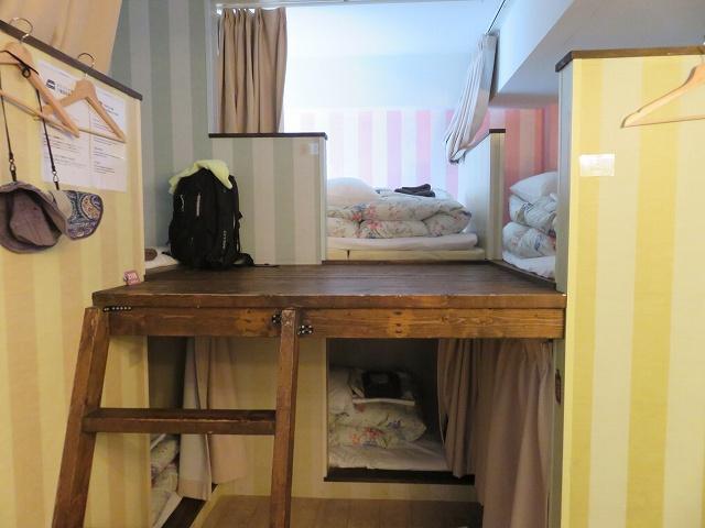 ホステルクオーレ倉敷の8人部屋